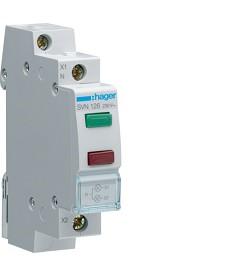 Lampka sygnalizacyjna LED zielona+czerwona 230VAC HAGER SVN126