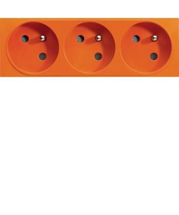 Gniazdo przelotowe z uziemieniem, 3x(2P+Z); samozaciski; Systo; 6 modułów; pomar