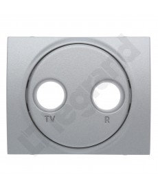 Sistena life plakietka gniazda rtv metalic , legrand 771372