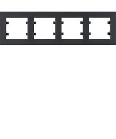 Ramka 4-krotna pozioma, czarny hager.lumina intense wl5743