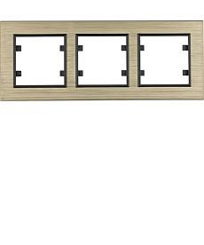 Ramka 3-krotna pozioma, aluminium mos hager.lumina passion wl9234