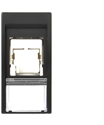 Gniazdo informatyczne 22,5x45 Cat5E UTP, czarne