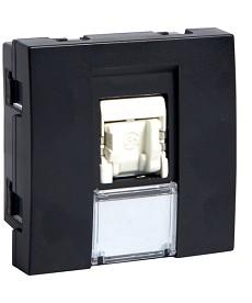 Gniazdo informatyczne RJ45 Cat.5e FTP Systo 2 moduły czarny