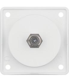 Gniazdo przyłączeniowe anteny SAT biały, mat Integro mechanizm
