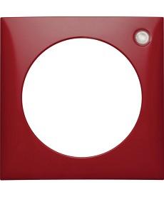 Integro Ramka 1-krotna z soczewką, czerwon , poł sk HAGER 919872576