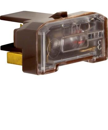 Wkładka żarowa z zaciskiem neutralnym; brązowy; mechanizmy