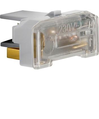 Wkładka jarzeniowa z zaciskiem neutralnym IP44; szary; mechanizmy