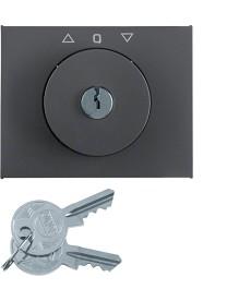 Płytka czołowa z kluczykiem do łącznika żaluzjowego obrotowego; antracyt mat, la