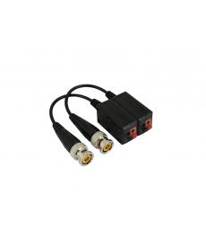 AT0017 Transmiter do kamer HD-TV wtyk BNC na kablu, złącze samozaciskowe 2 szt.