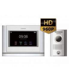 CDV-704MA(DC)/DRC-40KHD Wideodomofon głośnomówiący 7&quot HD z kamerą natynkową
