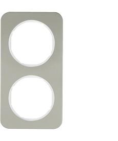 R.1 Ramka 2-krotna, stal szlachetna/biały