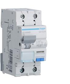 RCBO Wyłącznik różnicowoprądowy z członem nadprądowym 1P+N 6kA C 6A/300mA Typ A