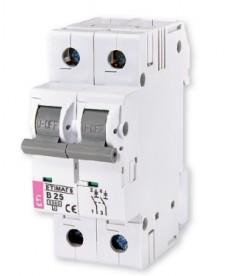 Wyłącznik nadprądowy ETIMAT 6 2p C1 ETI 002143504