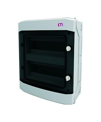 Rozdzielnica natynkowa ECH-24PT-S IP65 drzwi transparentne ETI 001101067