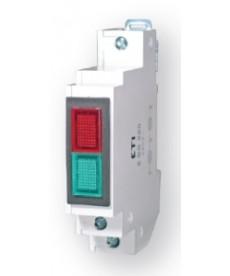 Lampka s gnalizac jna dwukolorowa 2 SS 220 czerwono/zielona