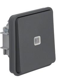 W.1 Łącznik uniwersalny z podświetleniem kontrolnym IP55 szary