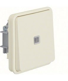 W.1 Łącznik uniwersalny z podświetleniem kontrolnym IP55 biały