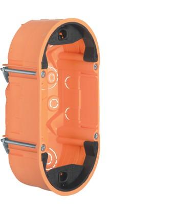 Puszka 2-krotna płytka; pomarańczowy, mat; TS Sensor