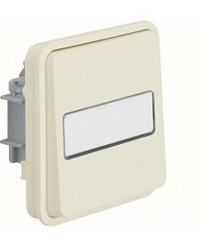 W.1 Łącznik uniwersalny z podświetlanym polem opisowym IP55 biały
