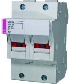 Rozłącznik bezpiecznikowy VLC 14x51L 2p ETI 002563100