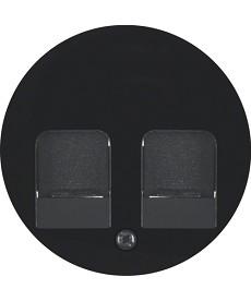R.1/R.3 Płytka czołowa z zasuwami chroniącymi przed kurzem, czarny, połysk