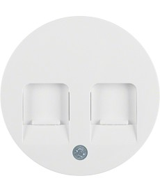 R.1/R.3 Płytka czołowa z zasuwami chroniącymi przed kurzem, biały, połysk