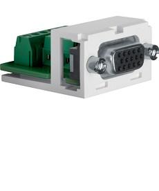 Moduł VGA 15 pin; biały/czarny; Dodatki