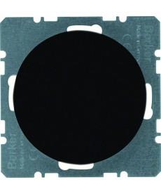 R.1/R.3 Zaślepka z płytką czołową czarny, połysk