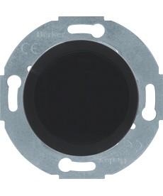 Zaślepka z elementem centralnym; czarny; Serie1930/Glasserie
