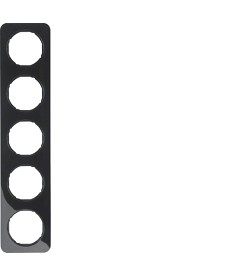 R.1 Ramka 5-krotna, czarny, połysk