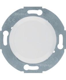 Zaślepka z elementem centralnym; biały; Serie1930/Glasserie