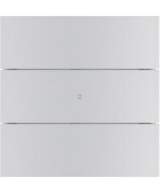 B.IQ Przycisk 3-krotny standard, aluminium