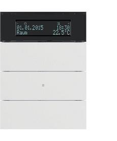 Przycisk 3-krotny z regulatorem temperatury i wyświetlaczem; biały; B.IQ