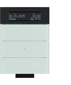 Przycisk IR 3-krotny z regulatorem temp. i wyświetlaczem; szkło białe; B.IQ
