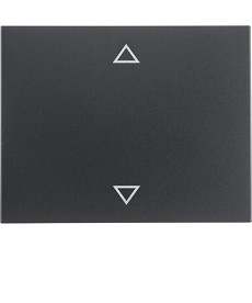 Klawisz z nadrukiem symbolu strzałki; antracyt mat, lakierowany; K.1
