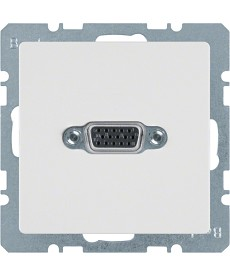 Gniazdo VGA z zaciskami śrubowymi biały, aksamit Q.1
