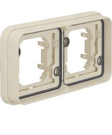 W.1 Ramka 2-krotna pozioma do montażu podtynkowego IP55 biały