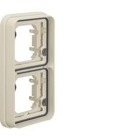 W.1 Ramka 3-krotna pozioma do montażu podtynkowego IP55 biały