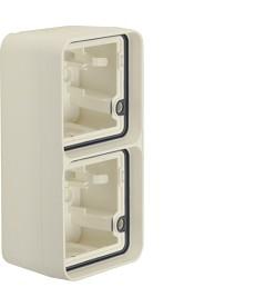 W.1 Puszka natynkowa 2-krotna pionowa 2 wejścia IP55 biały