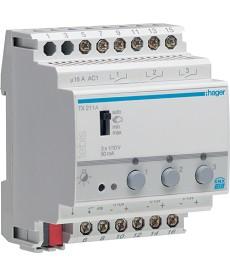 Ściemniacz załączający 1x10V, 50 mA, 3-kanałowy, 4 mod.