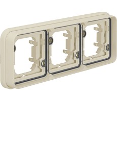 W.1 Ramka 2-krotna pionowa do montażu podtynkowego IP55 biały