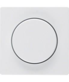 Płytka czołowa z pokrętłem regulacyjnym do ściemniacza obrotowego; biały, aksami