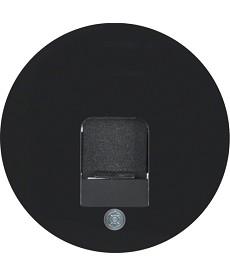 R.1/R.3 Płytka czołowa z zasuwą chroniącą przed kurzem, czarny, połysk