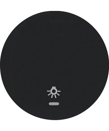 R.1/R.3 Klawisz z soczewką i nadrukiem symbolu światło czarny, połysk