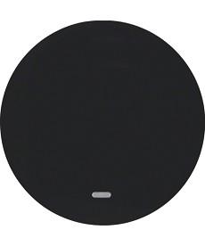 R.1/R.3 Klawisz z przezroczystą soczewką czarny, połysk