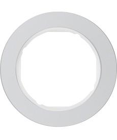 R.classic Ramka 1-krotna, alu/biały