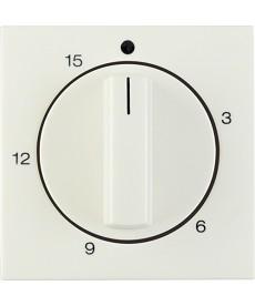 Płytka czołowa z pokrętłem regulacyjnym do mechanicznego łącznika czasowego 0-15