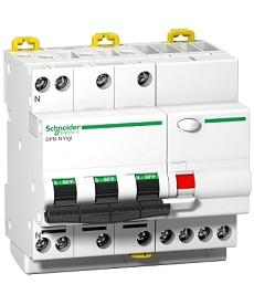 Wyłącznik kombinowany DPNNVigi-C40-300-AC C 40A 3N-biegunowy 300 mA typ AC SCHNE