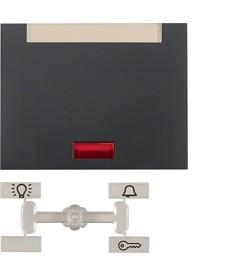 Klawisz z 5 dołączonymi soczewkami i polem opisowym; antracyt mat, lakierowany;