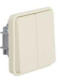 W.1 Łącznik świecznikowy wspólne zaciski wejściowe IP55 biały